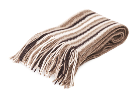 warm woolen scarf, isolated on white background photo