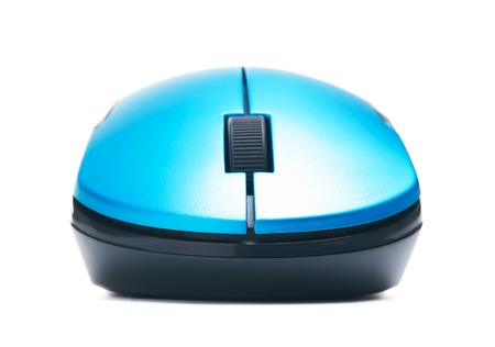 computer isolated: wireless computer mouse, isolated on white background