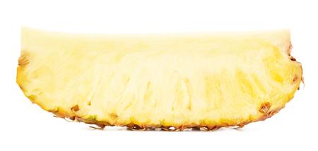 pineapple slice: juicy pineapple slice, isolated on white background