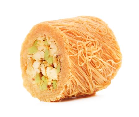 baklava: oriental sweets baklava, isolated on white background