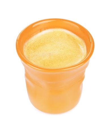 original orange espresso cup, isolated on white