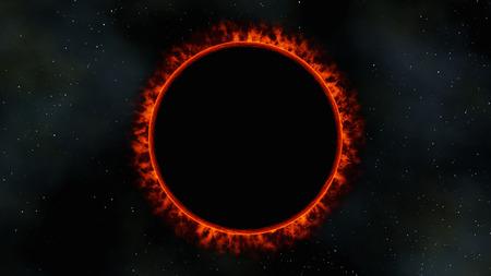 red dwarf star sun eclipse, 3d render