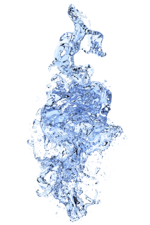 abstract liquid splash isolated on white background, 3d render
