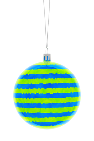 christmas ball isolated on white background, 3d illustration