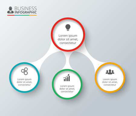 Vector elements for infographic. Template for diagram, graph, presentation and chart. Business concept with 4 options, parts, steps or processes. Data visualization.