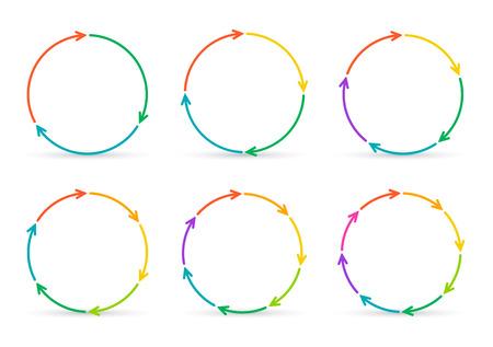 flechas: Flechas Vector círculo de infografía. Plantilla de diagrama, gráfico, presentación y gráfico. Concepto de negocio con 3, 4, 5, 6, 7 y 8 opciones, partes, etapas o procesos