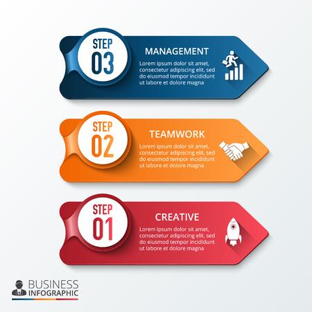 creative concept: arrows for info graphic Illustration