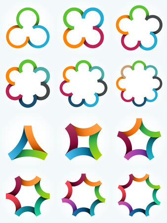 logo: Logo templates set Çizim