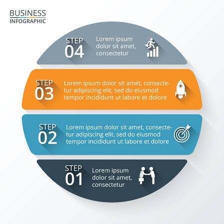 business cycle: Template for diagram, graph, presentation and chart.