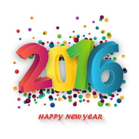 celebration background: Happy new Year celebration 2016 template background. Vector paper illustration.