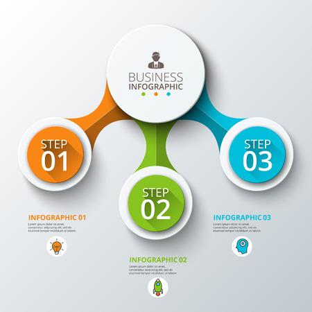 Estratto infografica contano opzioni modello. Illustrazione vettoriale. può essere utilizzato per il layout del flusso di lavoro, diagramma, opzioni passo affari, banner, web design Vettoriali