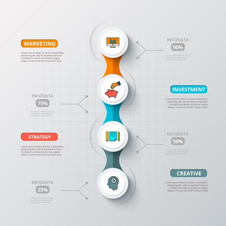 diagrama: Abstract infografía número de la plantilla opciones. Ilustración del vector. Puede ser utilizado para el diseño de flujo de trabajo, diagrama, las opciones de negocio paso, bandera, diseño web