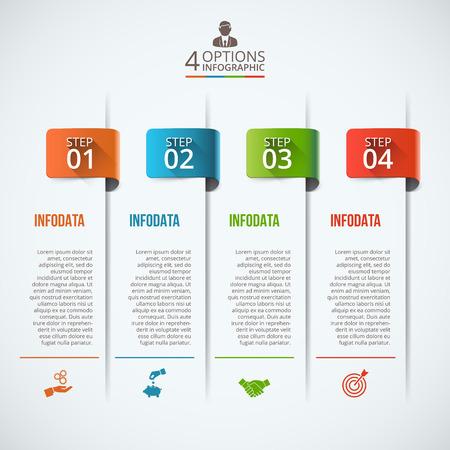 Zusammenfassung Infografiken Nummer Optionen Vorlage. Vektor-Illustration. Kann für die Workflow-Layout, Diagramm, Business-Schritt-Optionen, Banner, Web-Design verwendet werden Standard-Bild - 53441924