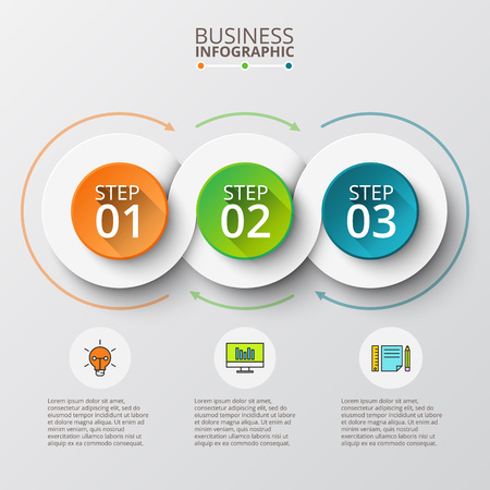 Abstract infographics number options template. illustration. Can be used for workflow layout, diagram, business step options,  web design Ilustracja