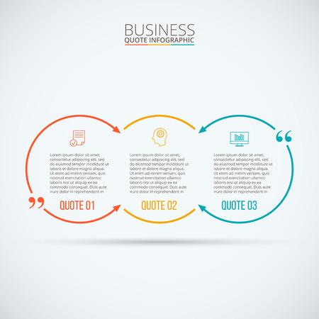 diagrama: infografía cotización. Plantilla para el diagrama, gráfica, la presentación y el gráfico. Concepto de negocio con 3 opciones, partes, etapas o procesos. Visualización de datos.