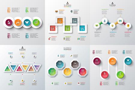 cuadrados: Abstract infografía número de la plantilla opciones. ilustración. Puede ser utilizado para el diseño de flujo de trabajo, diagrama, las opciones de negocio paso, bandera, diseño web Vectores