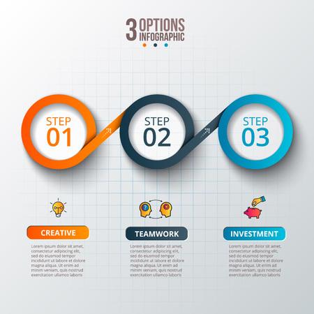 infografica: Astratte infografica Modello numero opzioni. Vettoriali