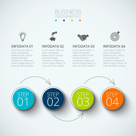 Abstract infographics number options template. Vector illustration. Can be used for workflow layout, diagram, business step options, banner, web design Stok Fotoğraf - 56488362