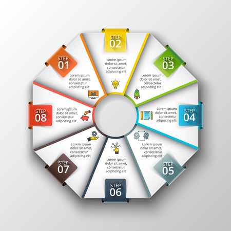 octagon: Vector octagon infographic.