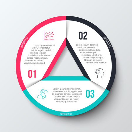 options: infographic design template for business concept with 3 options