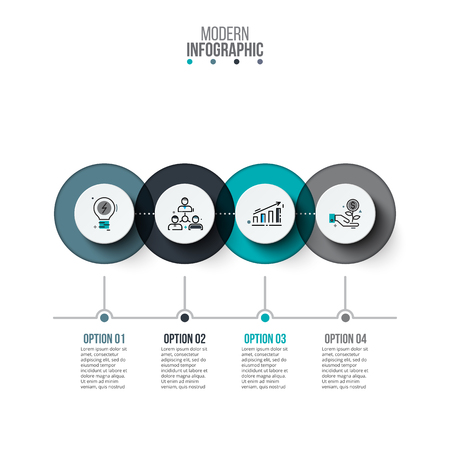 Visualisierung von Geschäftsdaten Prozessdiagramm. Abstrakte Elemente des Diagramms, Diagramm mit 4 Schritten, Wahlen, Teile oder Prozesse. Vektorgeschäftsschablone für Darstellung. Kreatives Konzept für Infografik. Standard-Bild - 69074027