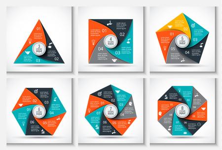 heptagon: Vector geometris elements for infographic.