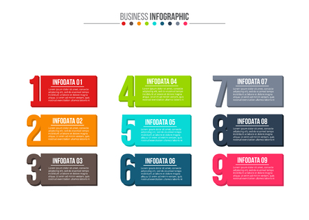 design: Abstract infographics number options template. Vector illustration. Can be used for workflow layout, diagram, business step options, banner, web design