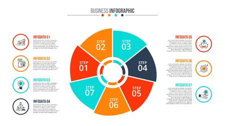 grafica de barras: Concepto creativo de infografía.