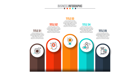 graphs and charts: Abstract infographics number options template. Illustration