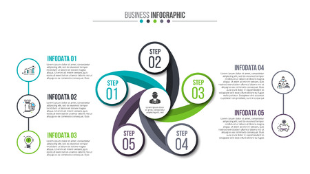 Creative concept for infographic.