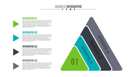 grafica de barras: elemento plano delgada línea de infografía. Vectores