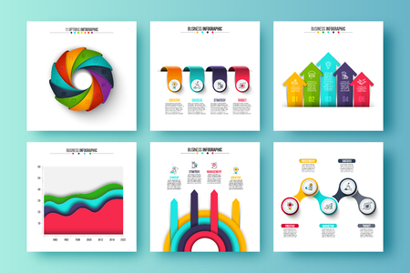 Vector infographic set. Can be used for workflow layout, diagram, business step options, banner, web design.