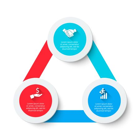 Triangle infographic with 3 options. Abstract diagram for presentation