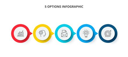 Vector infographic label design template with icons and 5 options or steps. Can be used for process diagram, presentations, workflow layout, banner or info graph.