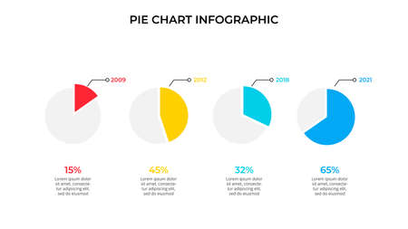 Business data visualization. Pie chart. Vector business template for presentation. Creative concept for infographic. 向量圖像