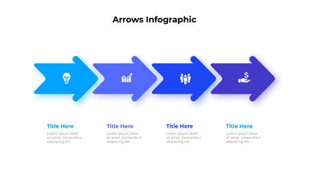 Vector arrows infographic. Template for diagram, graph, presentation and chart. Business concept with 4 options, parts, steps or processes.