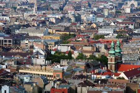 View of Budapest roofs Stock Photo
