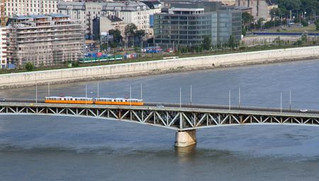Tramway on a bridge