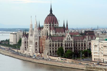 View of Budapest parliament Stock Photo