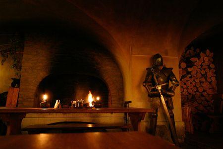 Inside of a medieval restaurant