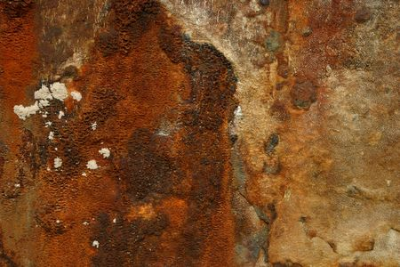 Rust from a wrecked ship Stock Photo
