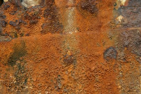 wrecked: Rust from a wrecked ship Stock Photo