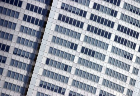Close up of a modern corporate building facade photo