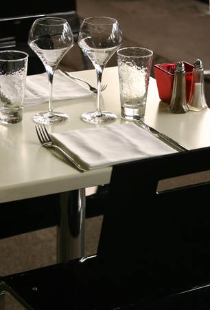 caf: View of a classy restaurant table
