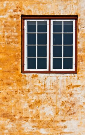 Window on a grungy wall  photo