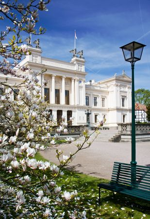 University building in spring (Lund, Sweden)
