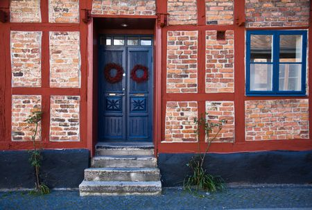 sweden resting: Facade of a charming rural home (Sweden) Stock Photo