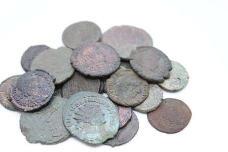 Ancient Roman Coins Stock Photo