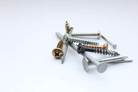Different Screws and Nails Stock Photo - 13731167