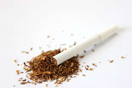 Cigarette with Tobacco Stock Photo